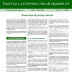 Jurisnews – Droit de la construction et immobilier