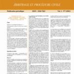 Jurisnews – Arbitrage et procédure civile