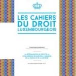 Cahier du droit luxembourgeois n°23 – Novembre 2014