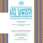 Cahier du droit luxembourgeois n°24 – Avril 2015